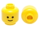 Part No: 3626cp01  Name: Minifigure, Head Standard Grin Pattern - Hollow Stud