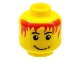 Part No: 3626cpb0050  Name: Minifigure, Head Male Messy Red Hair, Smile, White Pupils Pattern - Hollow Stud