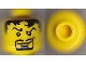 Part No: 3626cpb0216  Name: Minifigure, Head Male Pupils, Black Hair, Curly Eyebrows, Goatee Pattern - Hollow Stud