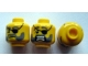 Part No: 3626cpb0399  Name: Minifigure, Head Dual Sided Eyepatch and Gray Beard Closed Mouth / Open Mouth Scared Pattern - Hollow Stud