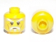 Part No: 3626cpb0522  Name: Minifigure, Head White Moustache, Goatee and Eyebrows, Brown Forehead and Cheek Lines, Neutral Pattern - Hollow Stud