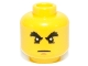 Part No: 3626cpb0532  Name: Minifigure, Head Male Raised Bushy Eyebrows, White Pupils, Chin Dimple Pattern - Hollow Stud