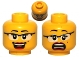 Part No: 3626cpb0578  Name: Minifigure, Head Dual Sided Female Glasses with Black Frames, Red Lips, Beauty Mark, Laughing / Scared Pattern - Hollow Stud