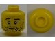 Part No: 3626cpb0684  Name: Minifigure, Head Beard Stubble, Wrinkles and Worried Look Pattern - Hollow Stud