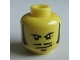 Part No: 3626cpb0756  Name: Minifigure, Head Male Sideburns, Moustache, Wrinkles and Smirk Pattern (Rodney Rathbone) - Hollow Stud