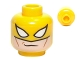 Part No: 3626cpb0787  Name: Minifigure, Head Male Mask with Iron Fist Pattern - Hollow Stud