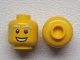 Part No: 3626cpb0798  Name: Minifigure, Head Male White and Gray Bushy Eyebrows, Open Mouth Smile Pattern - Hollow Stud