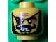 Part No: 3626cpb0801  Name: Minifigure, Head Male Eyepatch, Black Bushy Beard, Moustache and Missing Tooth Pattern - Hollow Stud