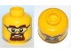Part No: 3626cpb0803  Name: Minifigure, Head Glasses with Safety Goggles, Brown Eyebrows and Goatee Pattern - Hollow Stud