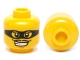 Part No: 3626cpb0856  Name: Minifigure, Head Male Black Eye Mask Black with Eye Holes and Thin Moustache Pattern - Hollow Stud