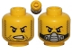 Part No: 3626cpb0883  Name: Minifigure, Head Dual Sided Beard Stubble, Determined / Breathing Apparatus Pattern - Hollow Stud