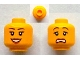 Part No: 3626cpb0940  Name: Minifigure, Head Dual Sided Female Peach Lips, Black Eyebrows, Open Mouth Smile / Scared Pattern - Hollow Stud