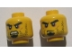 Part No: 3626cpb0979  Name: Minifigure, Head Dual Sided Beard Stubble, Black Goatee, Bushy Eyebrows, Grim Mouth with Teeth / Closed Mouth Pattern - Hollow Stud