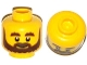 Part No: 3626cpb1057  Name: Minifigure, Head Beard Brown, Bushy Eyebrows, Grin and White Pupils Pattern - Hollow Stud
