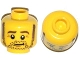 Part No: 3626cpb1063  Name: Minifigure, Head Beard Stubble, Sideburns, Eyebrows, Crow's Feet Pattern - Hollow Stud