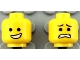 Part No: 3626cpb1089  Name: Minifigure, Head Dual Sided Male Open Smile with Teeth / Eyebrows, Scared Pattern - Hollow Stud