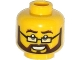 Part No: 3626cpb1134  Name: Minifigure, Head Glasses Rectangular, Black and Brown Beard and Moustache, Bushy Eyebrows, Smile with Teeth Pattern - Hollow Stud