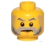 Part No: 3626cpb1335  Name: Minifigure, Head Beard Gray with Gray Eyebrows, Sideburns and Stern Pattern - Hollow Stud