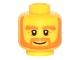 Part No: 3626cpb1512  Name: Minifigure, Head Beard Orange, Bushy Eyebrows, White Pupils, Wrinkles and Smile Pattern - Hollow Stud