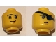 Part No: 3626cpb1583  Name: Minifigure, Head Dual Sided Scarred Right Eyebrow, Chin Dimple, Smile / Stern, Eyepatch Pattern - Hollow Stud
