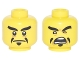 Part No: 3626cpb1884  Name: Minifigure, Head Dual Sided Black Eyebrows and Pointed Goatee, Stern / Open Mouth Angry Pattern - Hollow Stud