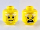 Part No: 3626cpb1919  Name: Minifigure, Head Dual Sided White Bushy Eyebrows, Goatee, Wrinkles, Smile / Open Mouth Scared Pattern - Hollow Stud