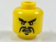 Part No: 3626cpb1930  Name: Minifigure, Head Black Angry Eyebrows and Moustache Fu Manchu Pattern - Hollow Stud