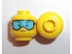 Part No: 3626cpb2022  Name: Minifigure, Head Glasses with Light Blue Ski Goggles and Slight Frown Pattern - Hollow Stud