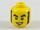 Part No: 3626cpb2085  Name: Minifigure, Head Dark Brown Eyebrows, Muttonchops, and Soul Patch Pattern - Hollow Stud