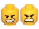 Part No: 3626cpb2279  Name: Minifigure, Head Dual Sided Black Eyebrows, Stubble, Open Smile / Open Mouth Angry Pattern (Rex Dangervest) - Hollow Stud