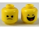 Part No: 3626cpb2307  Name: Minifigure, Head Dual Sided, Irritated Frown / Smile with Wide Open Mouth Showing Tongue Pattern - Hollow Stud
