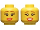 Part No: 3626cpb2311  Name: Minifigure, Head Dual Sided Female, Reddish Brown Eyebrows, Freckles, Red Lips, Medium Smile / Large Smile Pattern - Hollow Stud