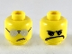 Part No: 3626cpb2332  Name: Minifigure, Head Dual Sided Plain Silver Sunglasses / Scribble-Face Frown Pattern - Hollow Stud
