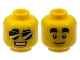 Part No: 3626cpb2396  Name: Minifigure, Head Dual Sided Thick Black Eyebrows, Black Sunglasses, Smile with Teeth / White Pupils, Closed Mouth Pattern - Hollow Stud