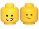 Part No: 3626cpb2426  Name: Minifigure, Head Dual Sided Lopsided Smile / Cheerful Pattern (Emmet) - Hollow Stud