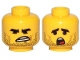 Part No: 3626cpb2432  Name: Minifigure, Head Dual Sided Black Eyebrows, Stubble, Angry /  Confused Pattern (Rex Dangervest) - Hollow Stud