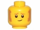 Part No: 3626cpb2523  Name: Minifigure, Head Sideburns and Worried Look Pattern - Hollow Stud