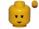 Part No: 3626cps3  Name: Minifigure, Head Male Small Black Eyebrows and Chin Dimple Pattern - Hollow Stud
