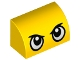 Part No: 37352pb001  Name: Brick, Modified 1 x 2 x 1 No Studs, Curved Top with Large Stern Eyes Pattern (Duckmobile)