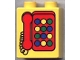 Part No: 4066pb102  Name: Duplo, Brick 1 x 2 x 2 with Telephone Pattern 2, Red with Round Buttons