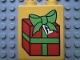Part No: 4066pb158  Name: Duplo, Brick 1 x 2 x 2 with Present / Gift Box Pattern