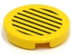 Part No: 4150pb027  Name: Tile, Round 2 x 2 with Black Stripes on Yellow Background Pattern (Sticker) - Set 6557