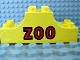 Part No: 4197pb003  Name: Duplo, Brick 2 x 6 x 2 Curved Ends with 'Zoo' Pattern
