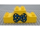 Part No: 4197pb005  Name: Duplo, Brick 2 x 6 x 2 Curved Ends with Bow Tie Pattern