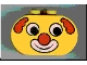 Part No: 4198pb05  Name: Duplo, Brick 2 x 4 x 2 Rounded Ends with Clown Face Pattern