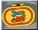 Part No: 4198pb08  Name: Duplo, Brick 2 x 4 x 2 Rounded Ends with Tool and Tow Truck Pattern