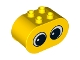 Part No: 4198pb18  Name: Duplo, Brick 2 x 4 x 2 Rounded Ends with 2 Eyes with Pupils Pattern