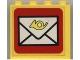 Part No: 4215pb020  Name: Panel 1 x 4 x 3 with Mail Envelope Pattern (Sticker) - Set 6651