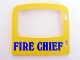 Part No: 4247pb01  Name: Duplo Door / Window with 'FIRE CHIEF' Pattern