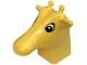 Part No: 44212c01pb01  Name: Duplo Figure Head Animal 2 x 2 Base Giraffe Head with Black and White Eyes Pattern
